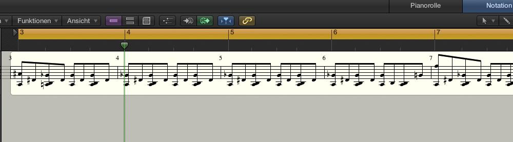 Drummer Region nach Umwandeln in MIDI-Region