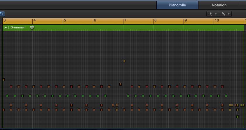 Die MIDI-Region im Pianorollen-Editor