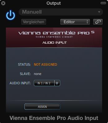 Audio Input wird als Effekt-Plug-in eingesetzt