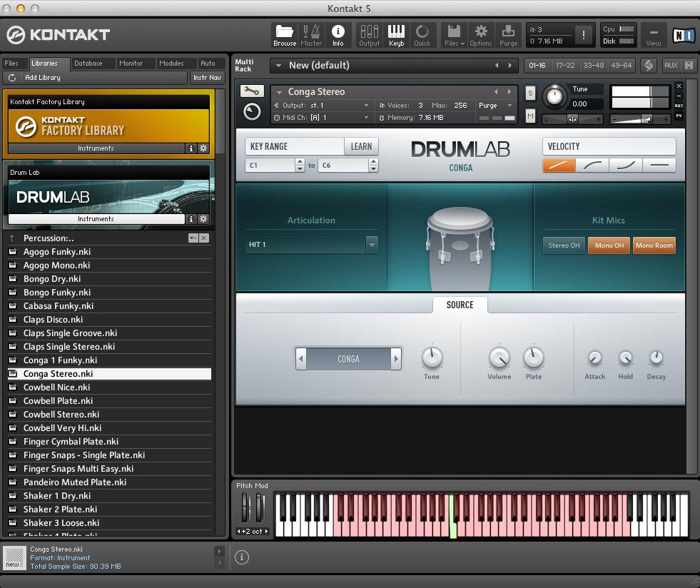 DRUMLAB Single Instrumente