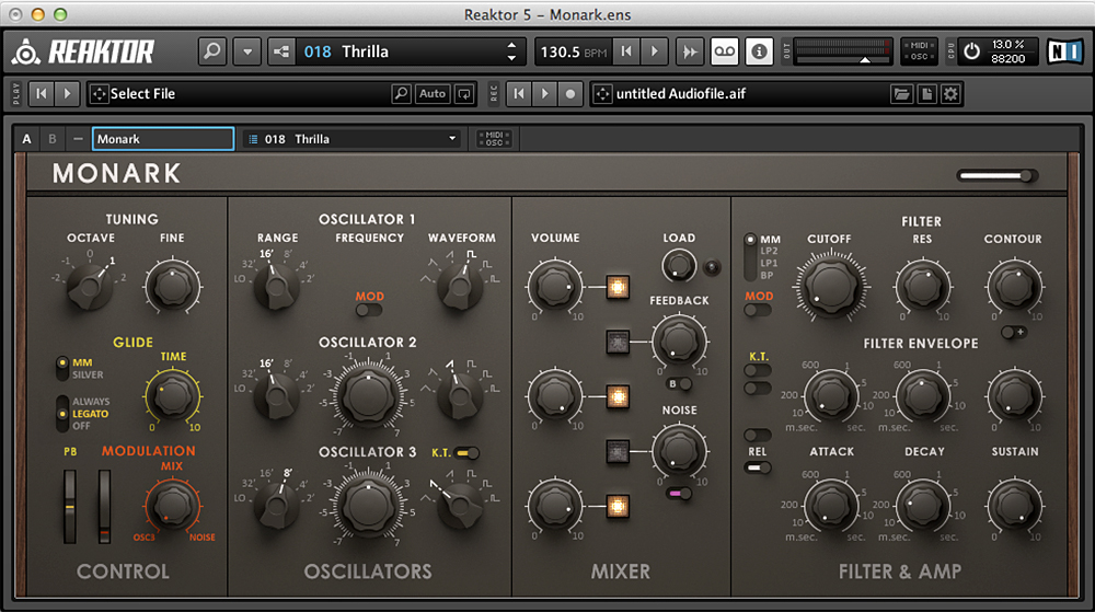 Native Instruments Reaktor 5, Synthesizer Monark
