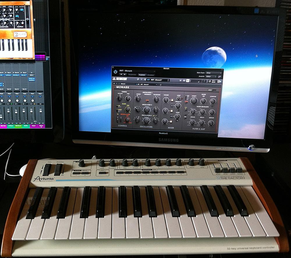 Hardware-Steuerung des Monark mit dem Arturia Keyboard