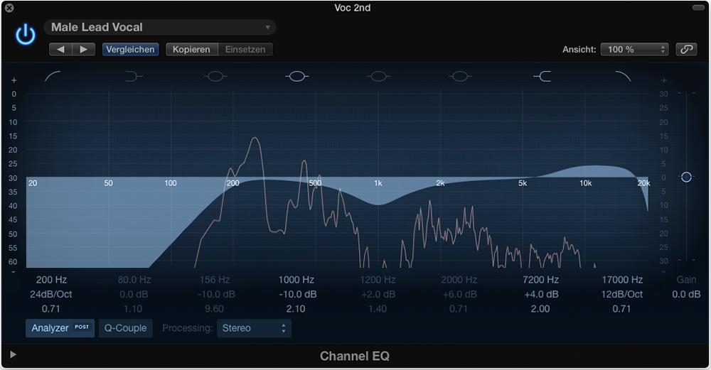So sieht der Channel EQ in der neuen Version aus.