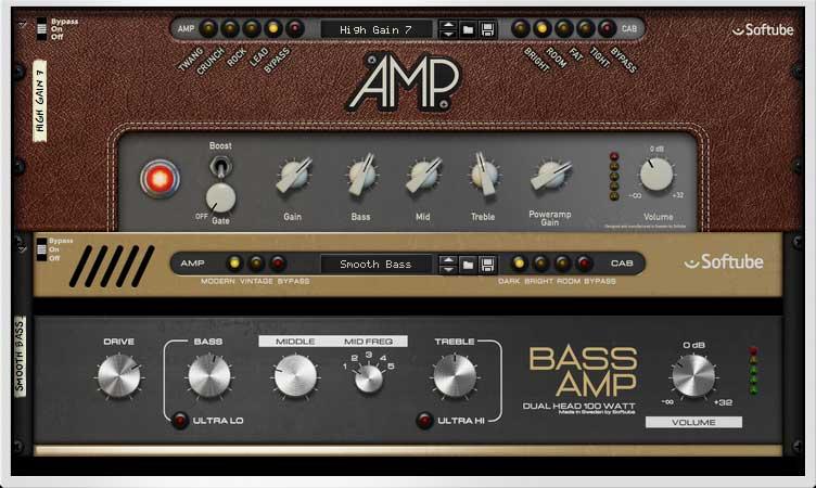 Guitar Amp und Bass Amp von Softube
