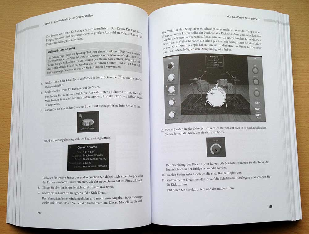 """Sehr gut ist die Lektion zu """"Drummer"""" und """"DrumDesigner""""."""