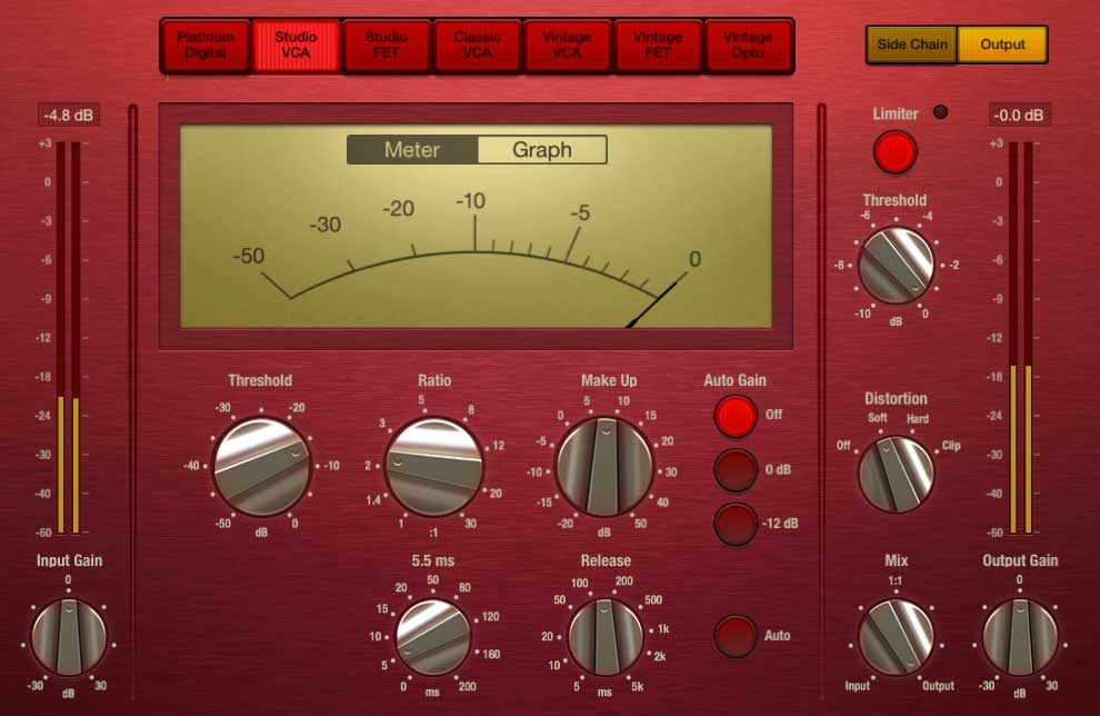 Studio VCA in Focusrite-Rot