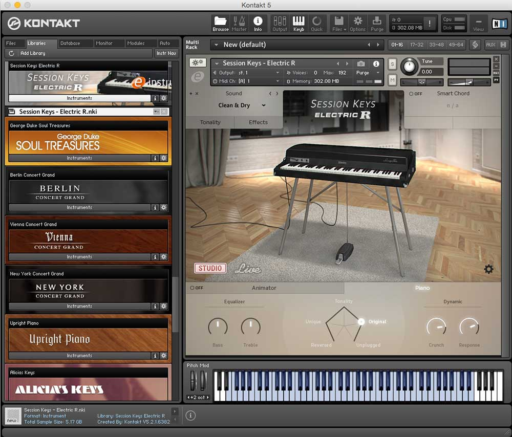 NATIVE INSTRUMENTS KONTAKT mit SESSION KEYS R