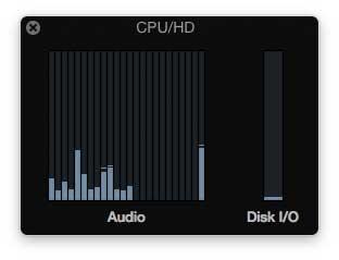 Logic Pro X, CPU-Last ohne Pi