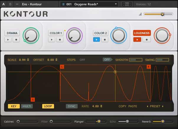 Makro LOUDNESS moduliert mit MOTION RECORDER.
