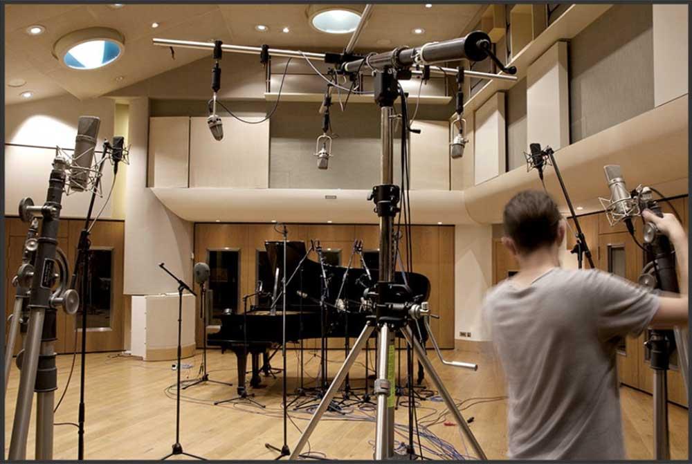 Mikrofonierung im Aufnahmestudio
