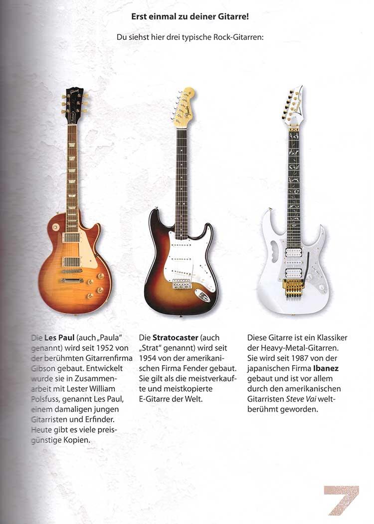 Rockgitarren in drei Geschmacksrichtungen