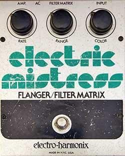 Electro-Harmonix Electric Mistress, Herstellung Mitte der 1970er bis heute