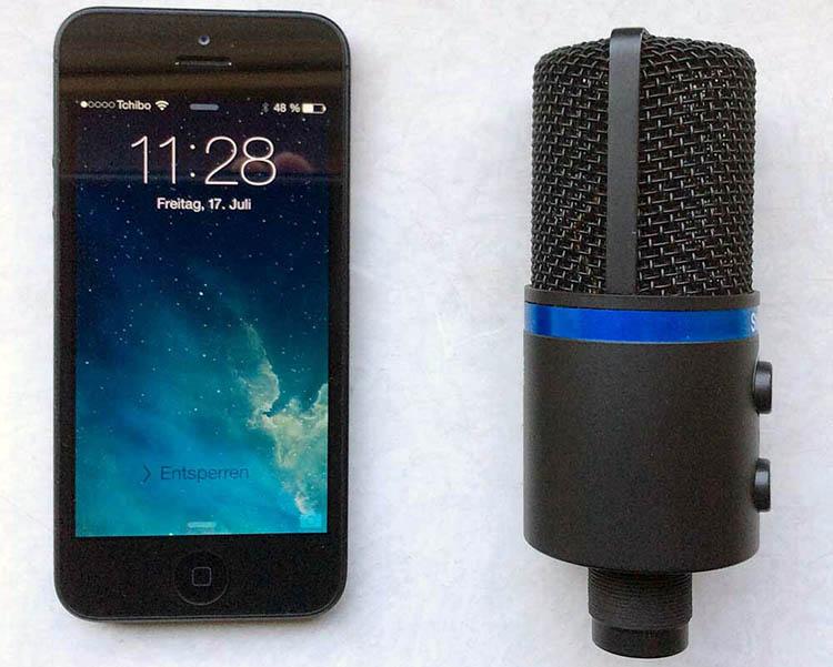 iPhone 5 und iRig Mic Studio