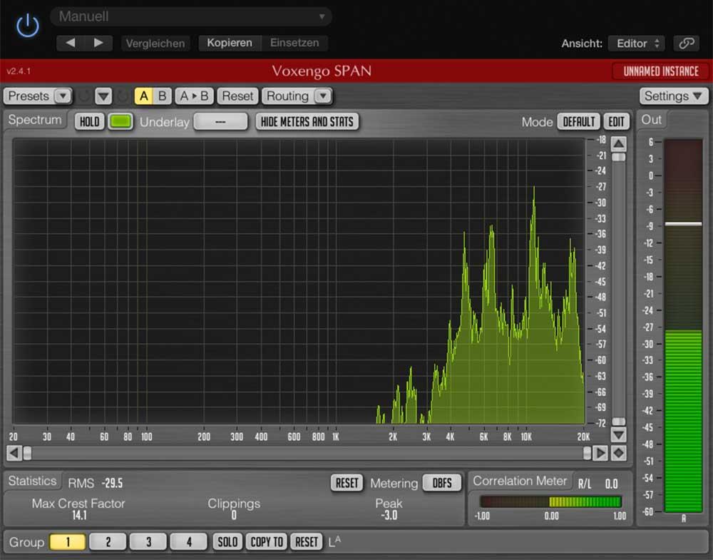 Frequenzanzeige Schellenring
