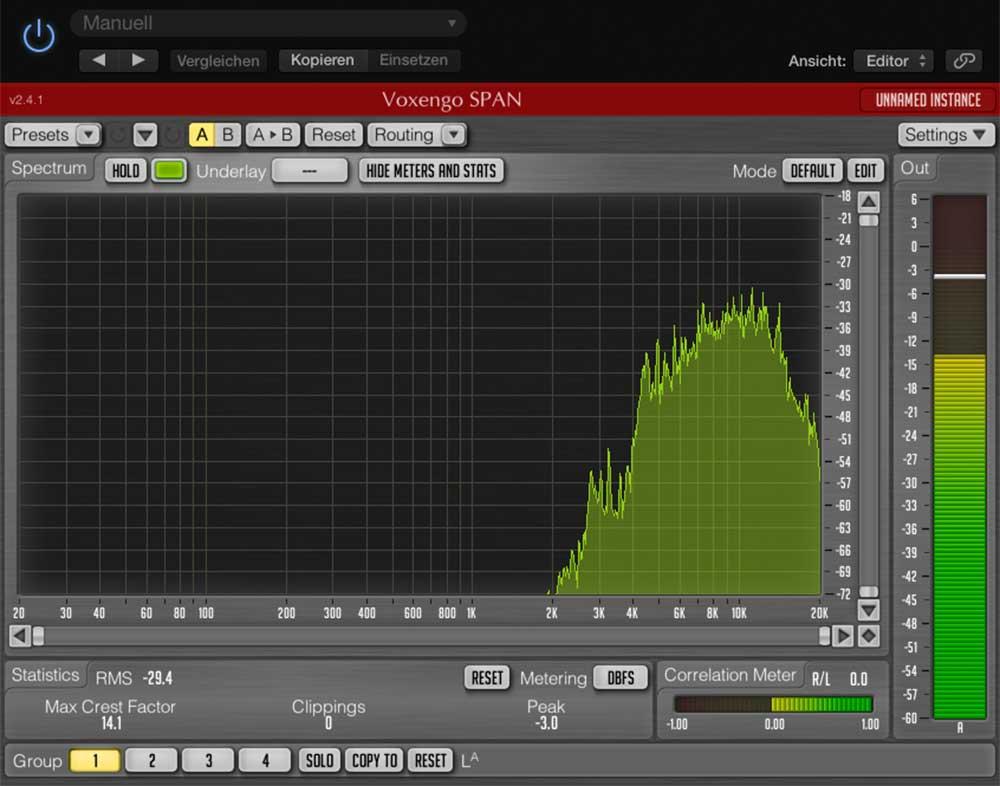 Frequenzanzeige Maracas