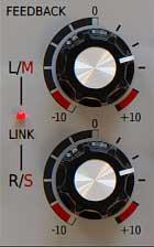 Feedback Regler wirken auf M/S- oder Stereokanäle