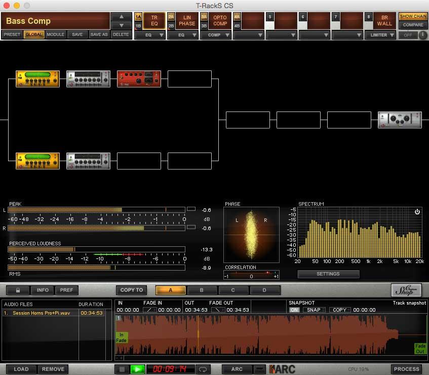 Die t-RackS Mastering-Suite standalone