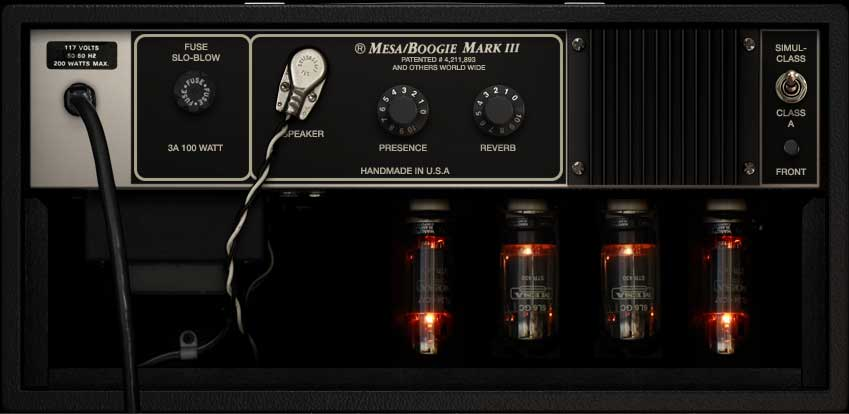 Mesa/Boogie Mark III, Rückseite
