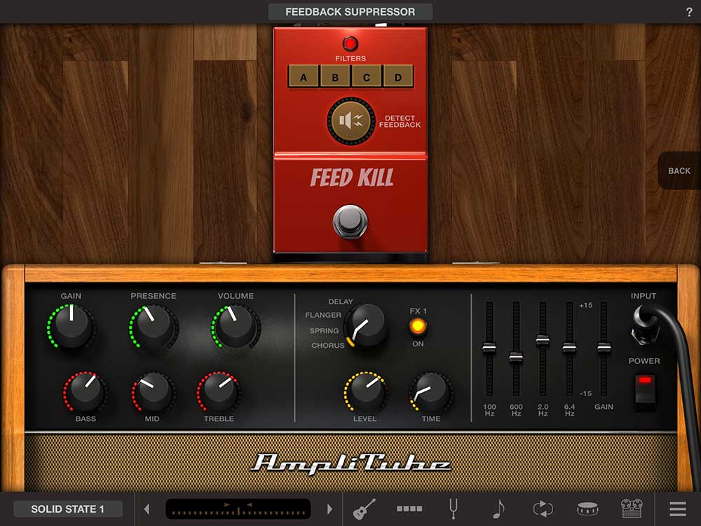 AmpliTube Acoustic free, Amp und Feedback Killer