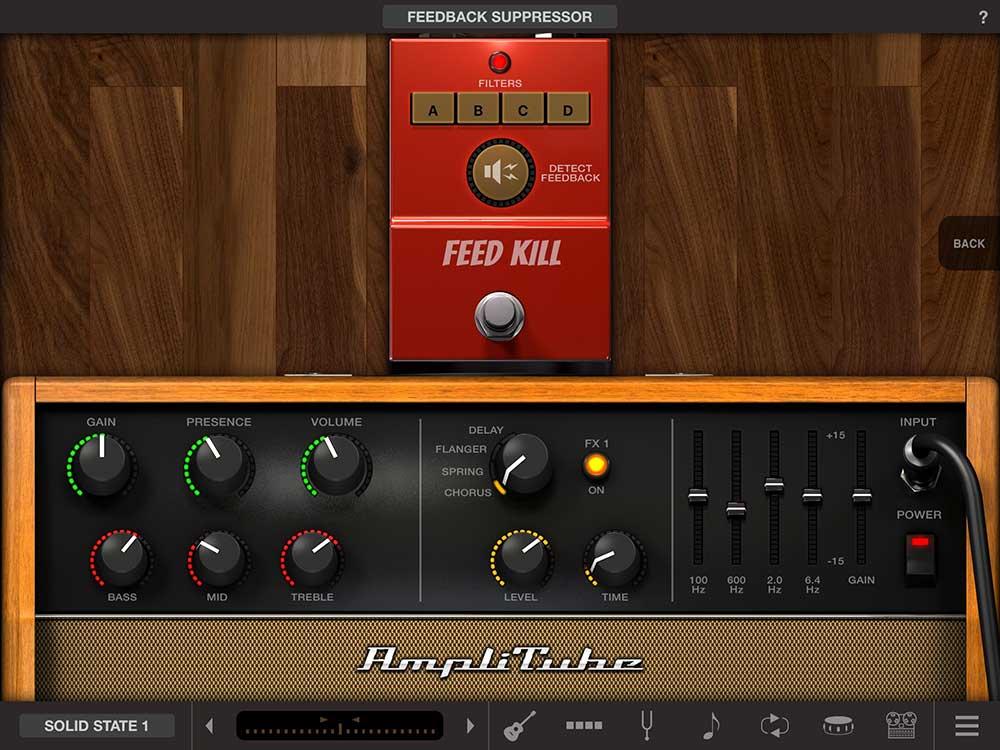AmpliTube Acoustic free, Amp und Feedback Killer