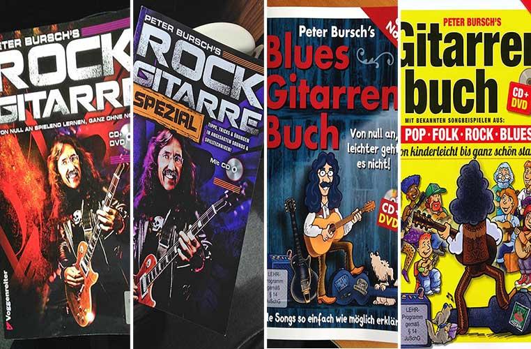 Vier Gitarrenlehrbücher von Peter Bursch