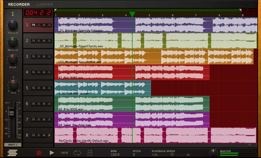 Der Recorder, eine einfache 8-Track-DAW