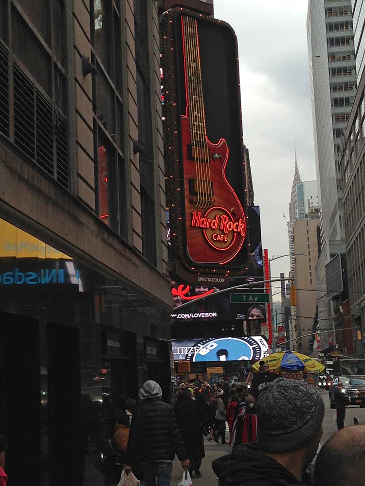 Das Hard Rock Cafe am Broadway