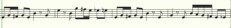 Das Violin-Pattern des Hörbeispiels