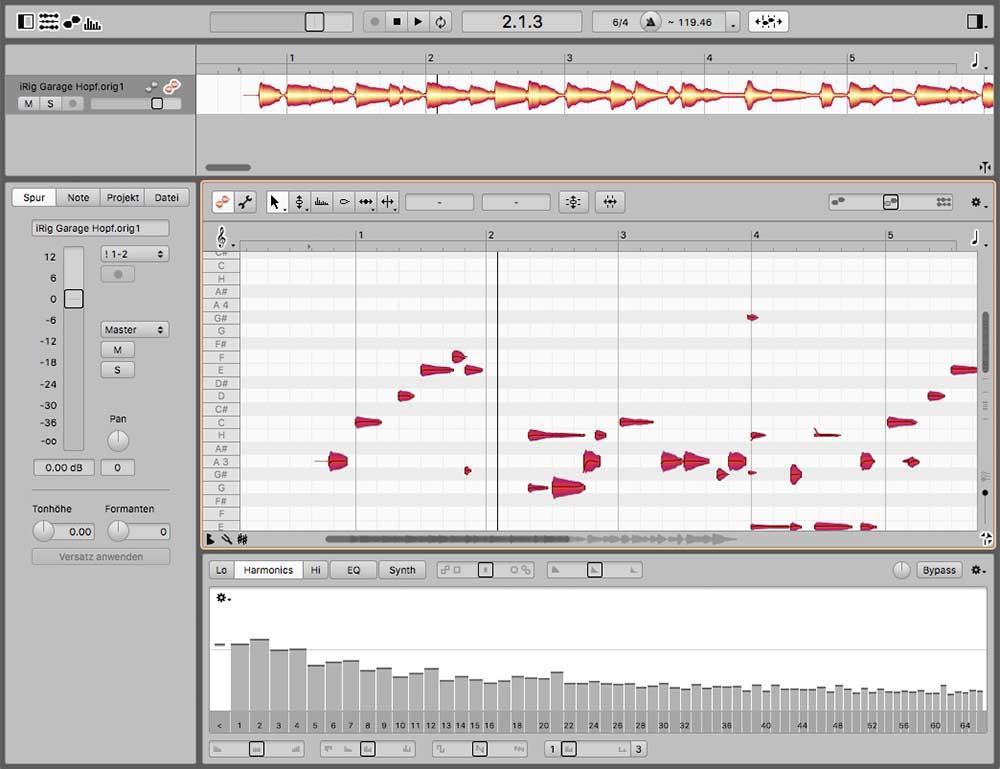Melodyne 4 studio mit dem neuen Sound Editor