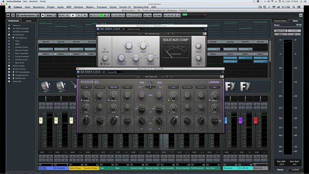 Orchester-Mix mit Plug-ins