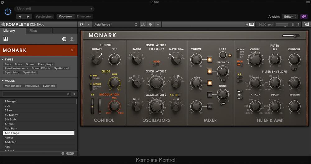 KOMPLETE KONTROL Plug-in, Synthesizer MONARK