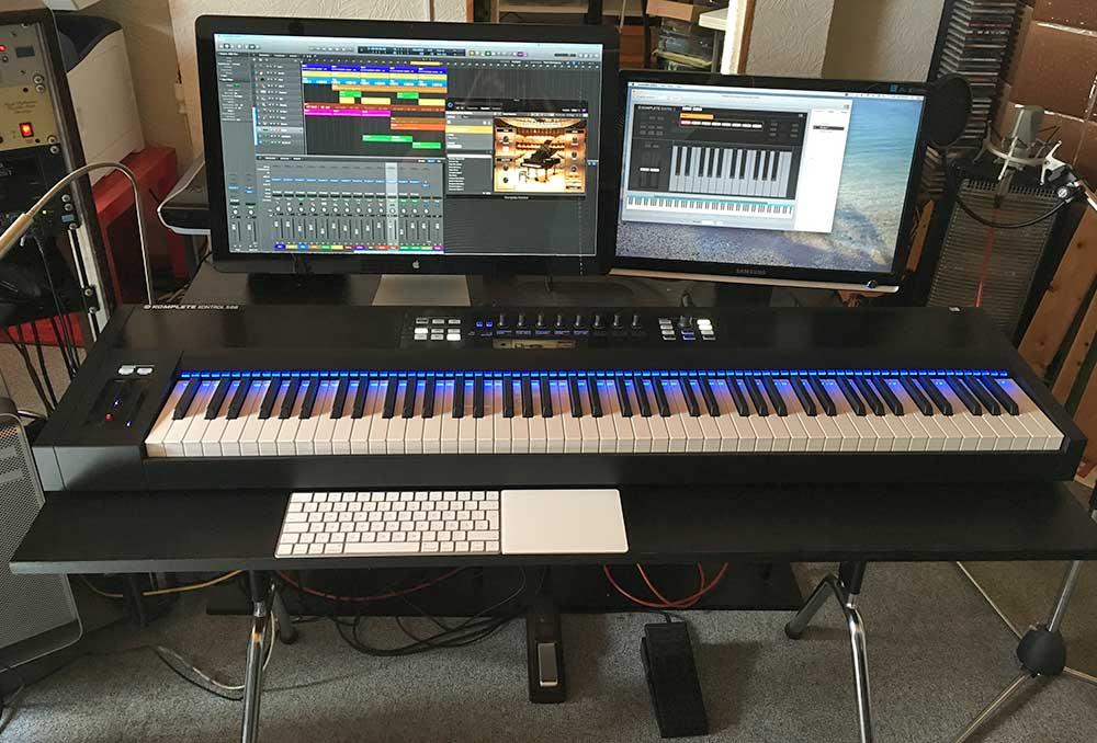Alle Tasten sind dem Piano zugeordnet.