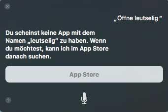"""Siris Reaktion auf """"Öffne Logic"""", zweiter Versuch"""