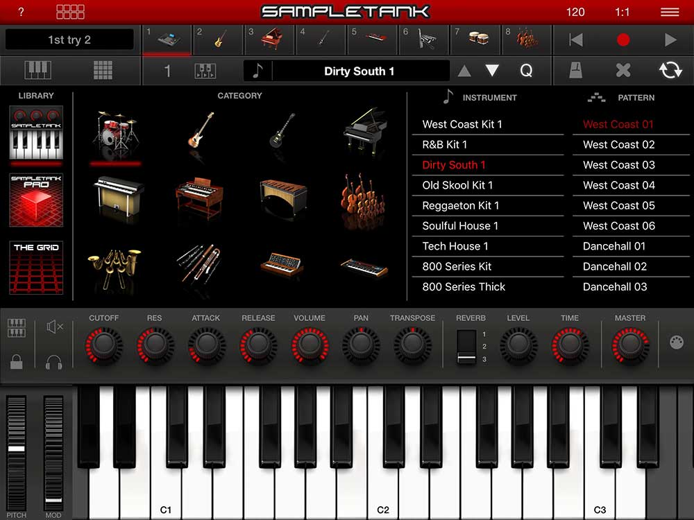 SampleTank 2: Song Mode mit Browser
