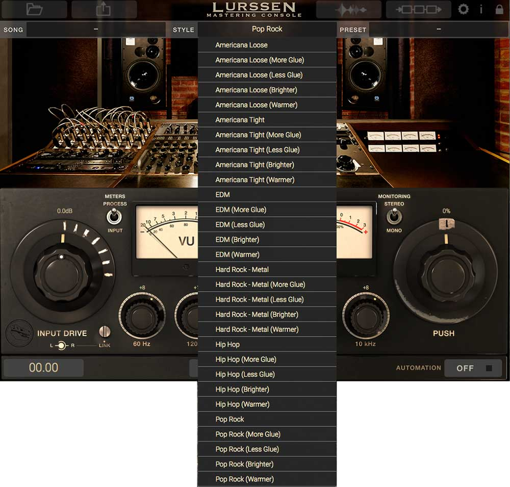 "Alle ""Styles"" der IK Multimedia Lurssen Mastering Console"