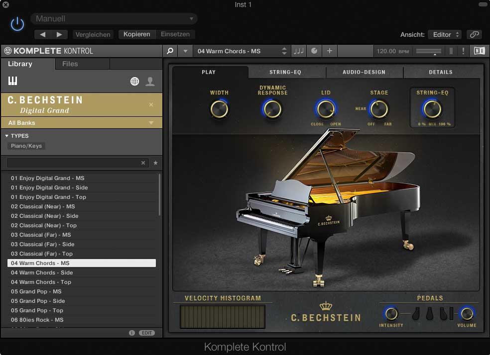 Native Instruments KOMPLETE KONTROL lässt sich mit jedem MIDI-Keyboard verwenden.