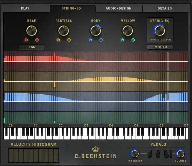 Mit dem String-EQ lässt sich jede Taste einzeln beeinflussen.