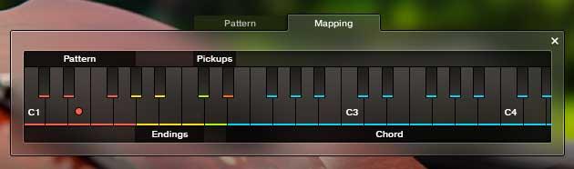 Die Mapping-Ansicht mit Farbcode