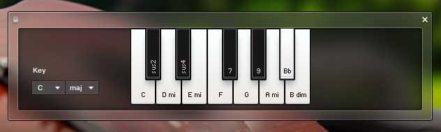 Autochords für das Spiel mit nur 1 oder 2 Fingern