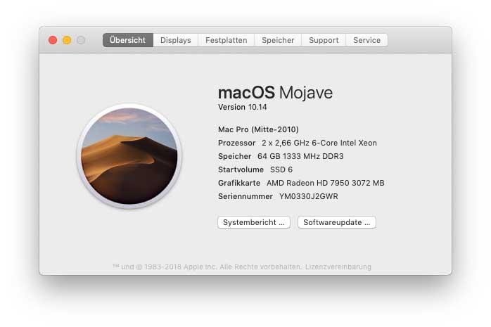 In die Wüste geschickt? macOS Mojave 10 14 für die