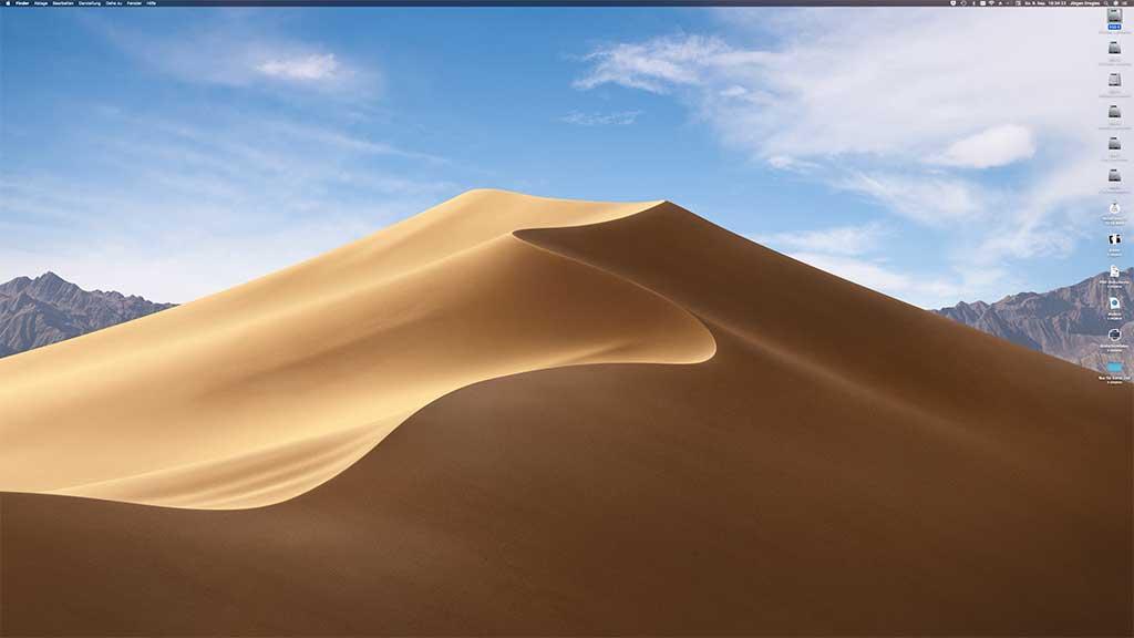 macOS Mojave dynamischer Bildschirmhintergrund tagsüber