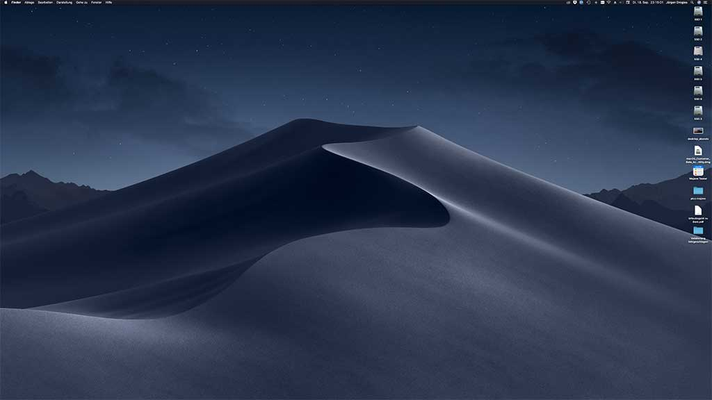 macOS Mojave, Nacht