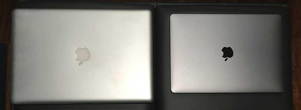 MacBook Pro 15 Zoll 2008 und 13 Zoll 2018