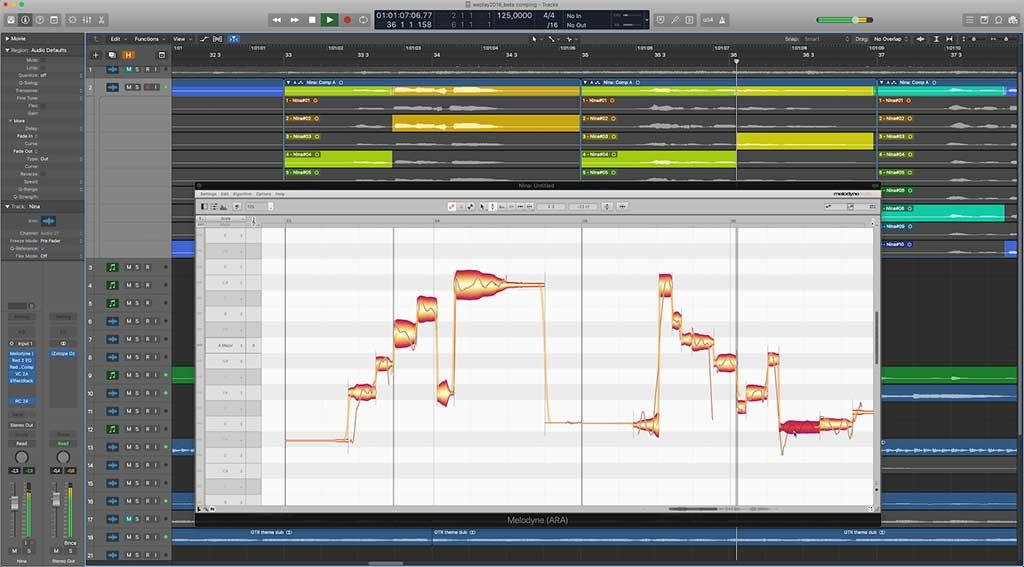 Apple Logic Pro X 10.4.2 und Melodyne 4.2