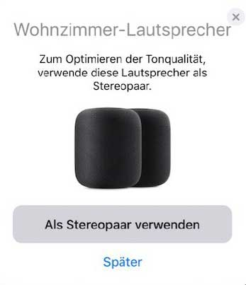 Apple HomePods Stereo