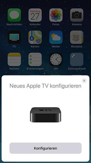 Apple TV 4K Einrichtung iPhone