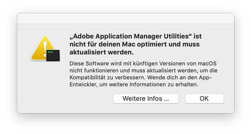 Ab und zu warnt das macOS selbständig durch solche Hinweise.