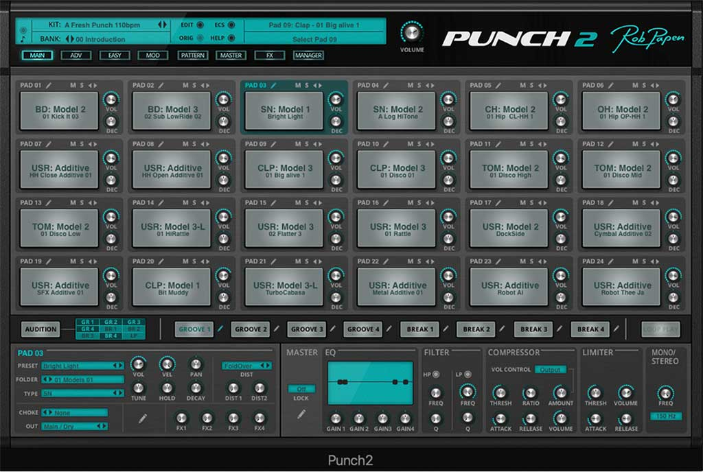 Rob Papen Punch: Main Screen
