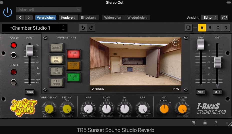Sunset Sound Studio Reverb