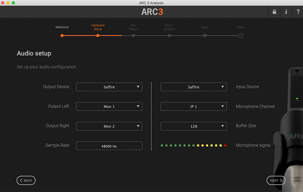 Audio Setup ARC 3